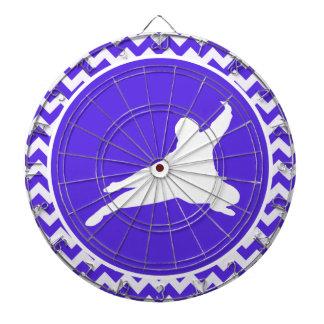 Blue Violet Chevron; Ninja Dartboard With Darts