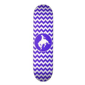 Blue Violet Chevron; Rodeo Skate Deck