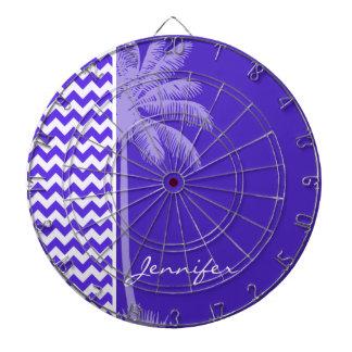 Blue Violet Chevron; Tropical Palm Dartboards