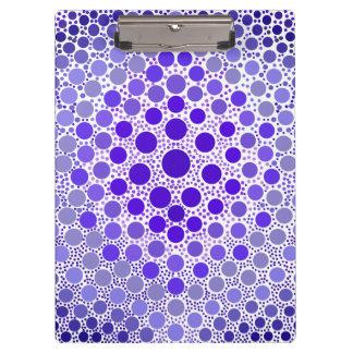 Blue-Violet Dots Clipboard