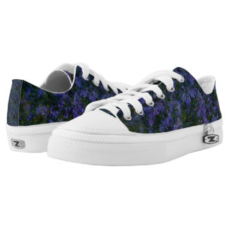 Blue Violet Garden Low Top Sneakers