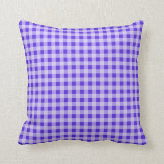 Blue Violet Gingham; Checkered Cushions