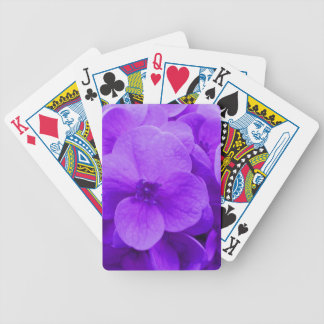 Blue Violet Hydrangea Bicycle Playing Cards