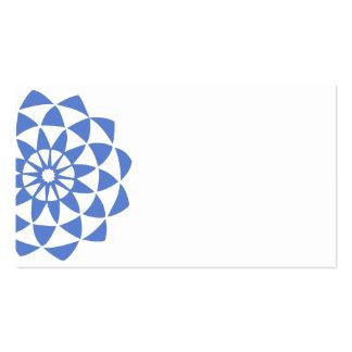 Blue Violet Lotus Business Card Templates