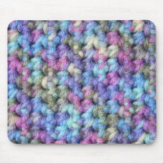 Blue Violet Multi Color Crochet Mouse Pad