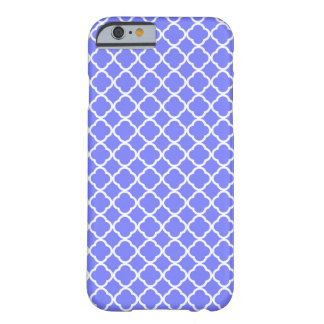 Blue Violet Orchid And White Quatrefoil. Moroccan Barely There iPhone 6 Case