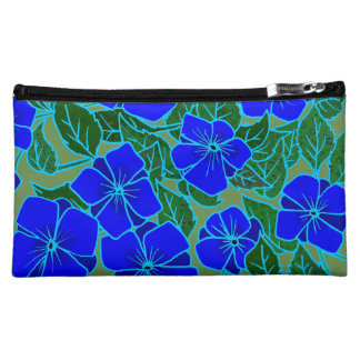Blue Violets Makeup Bag