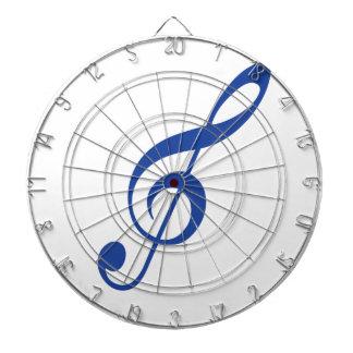 Blue Violin key Dartboard