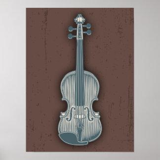 Blue Violin Poster