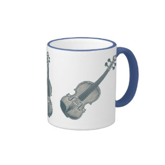 Blue Violin Ringer Mug
