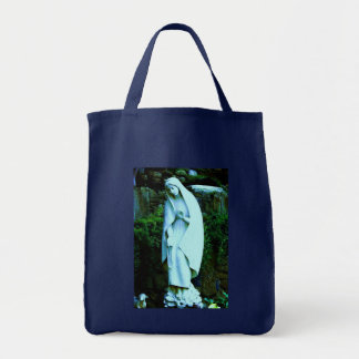 Blue Virgin Mary Statue Tote Bag