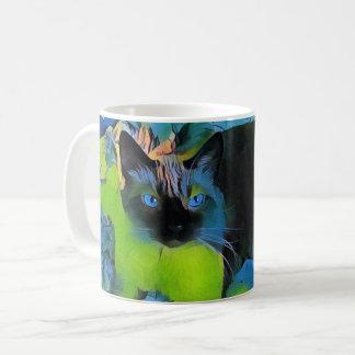 Blue Vision Cat Mug