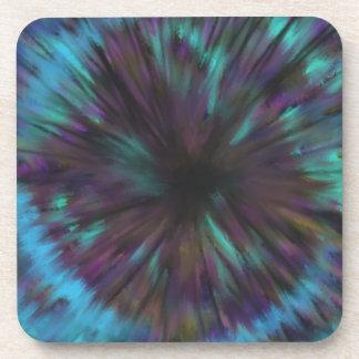 Blue Vortex Optical illusion Abstract Art Design Coaster