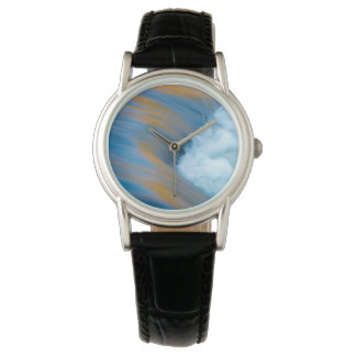 Blue water abstract, Canada Wristwatch