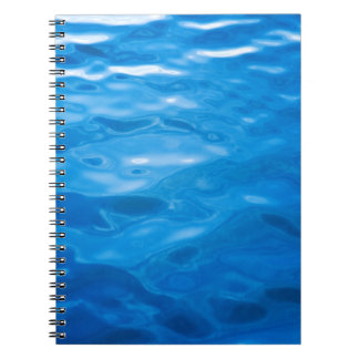 Blue Water Background - Customized Template Notebook