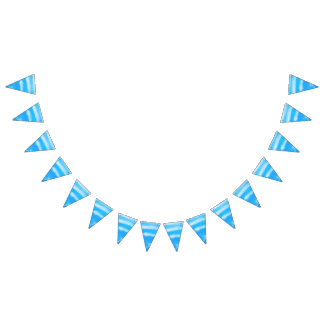 Blue Water Beach / Poolside Party Bunting Banner