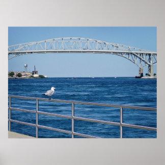 Blue Water Bridge, Port Huron, MI Poster