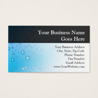 Blue Water Bubbles Business Card