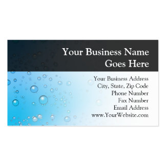 Blue Water Bubbles Business Card Templates
