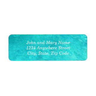 Blue Water Color Address Return Address Label