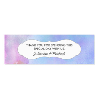 Blue Water Color Favor Tag / baby shower / wedding Pack Of Skinny Business Cards