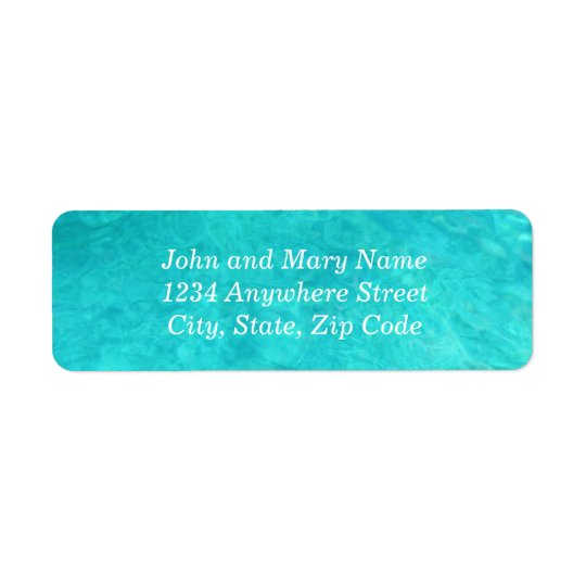Blue Water Colour Address Return Address Label