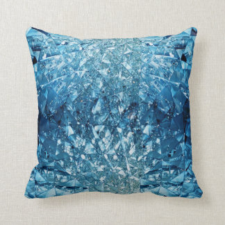 Blue Water Crystals Cushion