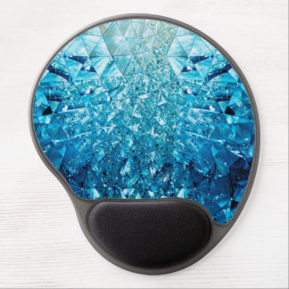 Blue Water Crystals Gel Mouse Pad