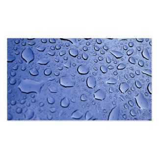 Blue Water Droplets Business Card Template