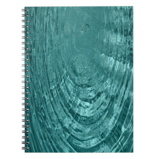Blue water droplets ripples Notebook