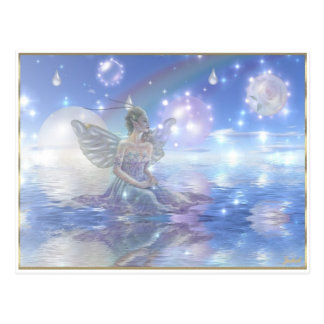 Blue Water Fairy Postcard