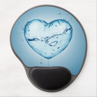 Blue Water Heart Gel Mouse Pad