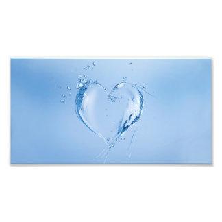 Blue Water Heart Photo Print