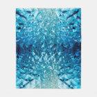 Blue water in cristals fleece blanket