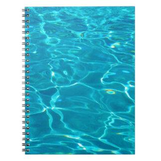 Blue Water in Pool Notebook