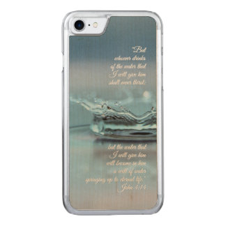 Blue Water Life never thirst Bible Verse John Carved iPhone 8/7 Case