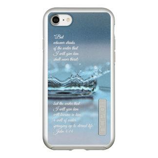 Blue Water Life never thirst Bible Verse John Incipio DualPro Shine iPhone 8/7 Case