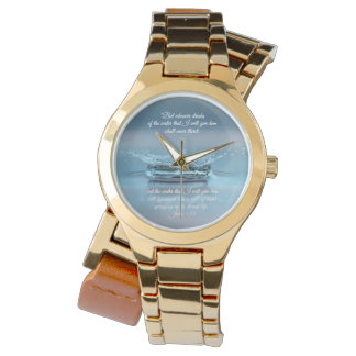 Blue Water Life never thirst Bible Verse John Watch
