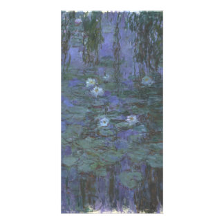 Blue Water Lilies by Claude Monet Customized Photo Card