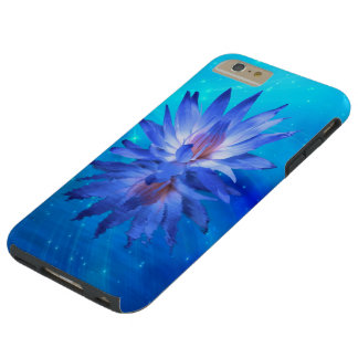 Blue Water Lily Tough iPhone 6 Plus Case