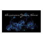 Blue Water Lotus Flower Asian 2 Business Card
