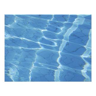 Blue water pattern 21.5 cm x 28 cm flyer