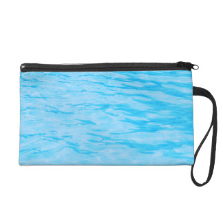 Blue Water Ripples Wristlet Clutches