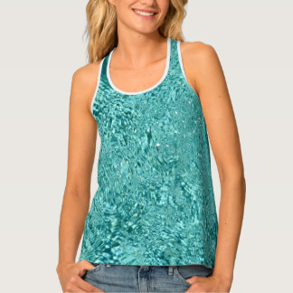 Blue water ripples Full Print Shirt Tank Top