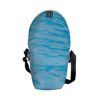 Blue Water Ripples Messenger Bags