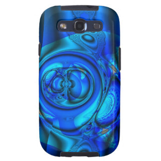 Blue water stream, abstract samsung galaxy SIII cover