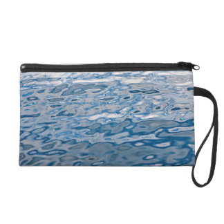 Blue water surface wristlet