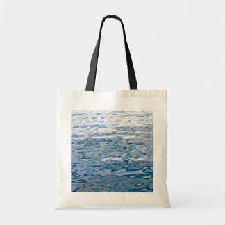 Blue water surface tote bags