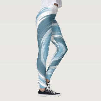 Blue Water Swirl Leggings