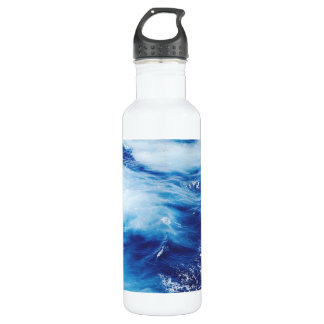 Blue Water Waves in Ocean 710 Ml Water Bottle